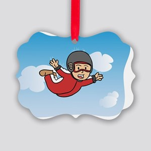 Flying Free and Happy through Sky Picture Ornament