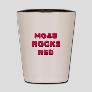 Moab Rocks Red, rocks Shot Glass