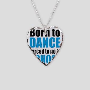 dance Necklace Heart Charm