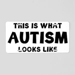 autismLook1C Aluminum License Plate