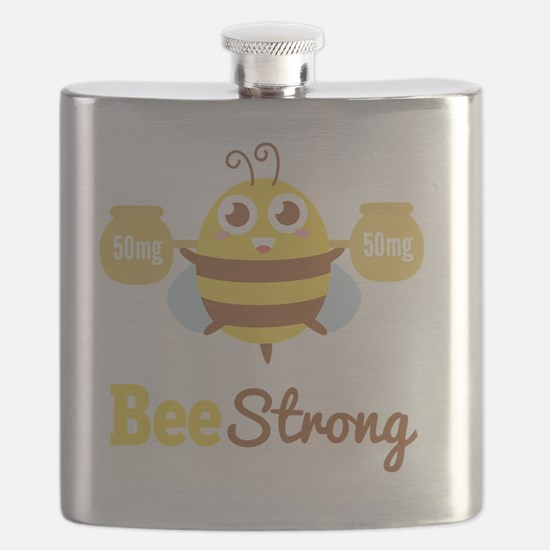 Bee strong in lifting weights beyond one's l Flask