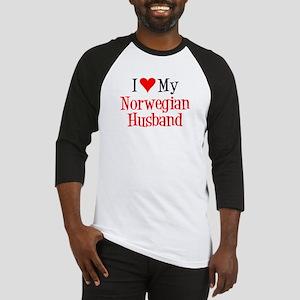 Love My Norwegian Husband Baseball Jersey
