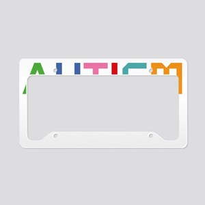 autismSystem2B License Plate Holder