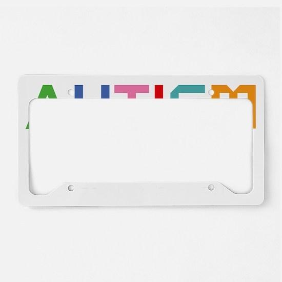 autismSystem2B License Plate Holder