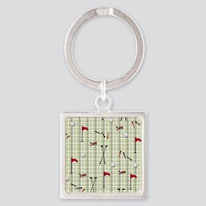 Hole in One Golf Equipment on Plai Square Keychain