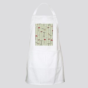 Hole in One Golf Equipment on Plaid Apron
