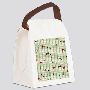 Hole in One Golf Equipment on Pla Canvas Lunch Bag