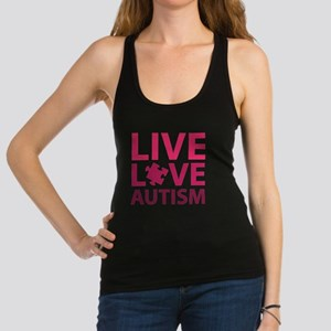 liveLoveAutism3D Racerback Tank Top