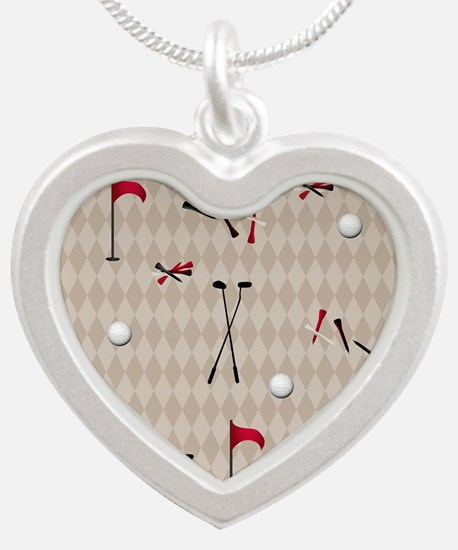 Hole in One Golf Equipment o Silver Heart Necklace