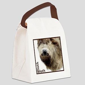 Sloth T-Shirt Canvas Lunch Bag