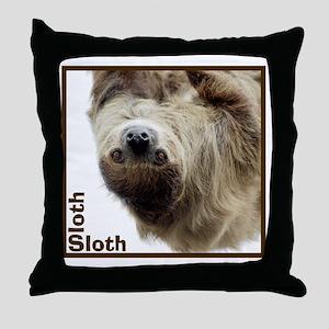 Sloth T-Shirt Throw Pillow