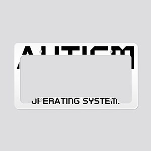 autismSystem2C License Plate Holder