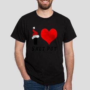 I Love Shot Put Dark T-Shirt