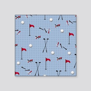 """Hole in One Golf Equipment  Square Sticker 3"""" x 3"""""""