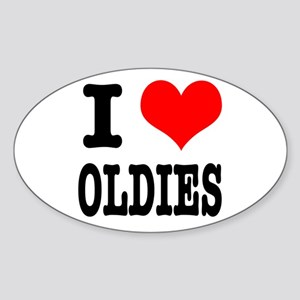 I Heart (Love) Oldies Oval Sticker