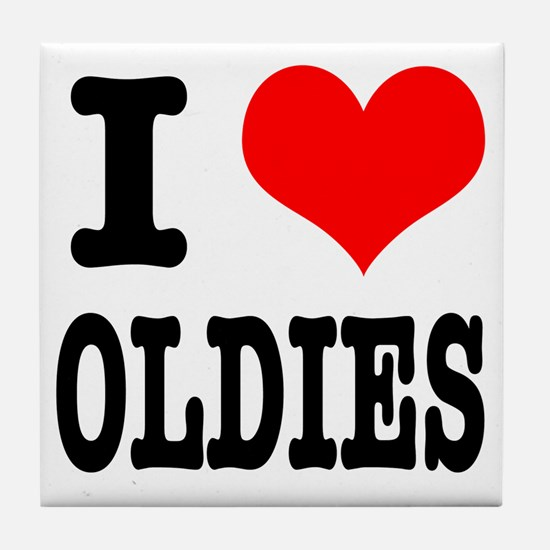 I Heart (Love) Oldies Tile Coaster