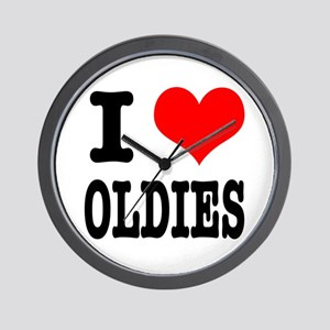 I Heart (Love) Oldies Wall Clock