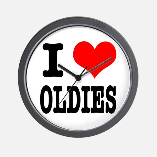 I Heart (Love) Oldies Wall Clock