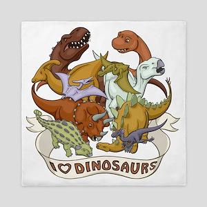 I Heart Dinosaurs Queen Duvet