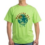 Earth Day ; Melting hot earth Green T-Shirt