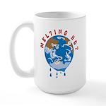Earth Day ; Melting hot earth Large Mug