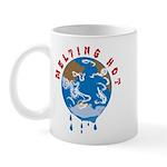 Earth Day ; Melting hot earth Mug