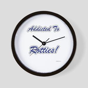 Rottweiler Addicted Wall Clock
