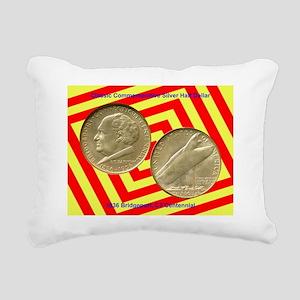 Bridgeport CT Centennial Rectangular Canvas Pillow