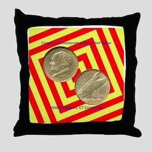 Bridgeport CT Centennial Half Dollar  Throw Pillow