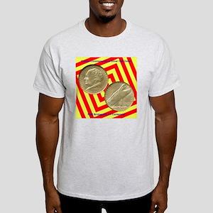 Bridgeport CT Centennial Half Dollar Light T-Shirt