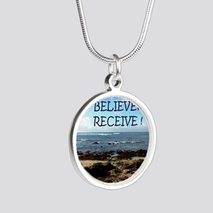 Ask Silver Round Necklace