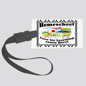 Homeschool Learning SIGN Large Luggage Tag