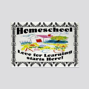Homeschool Learning SIGN Rectangle Magnet