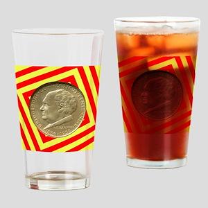 Bridgeport CT Centennial Half Dolla Drinking Glass