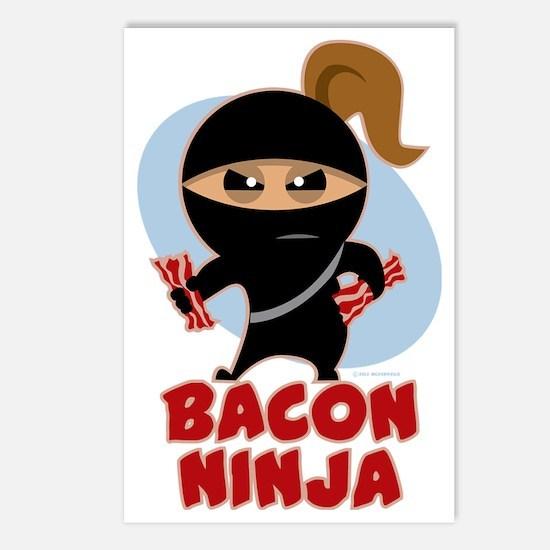 Bacon Ninja Postcards (Package of 8)