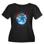 Earth Day ; Melting hot earth Women's Plus Size Sc