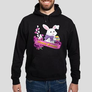 White Easter Bunny Banner Sweatshirt