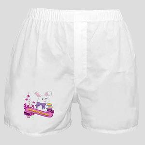 White Easter Bunny Banner Boxer Shorts