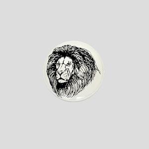 lion - king of the jungle Mini Button