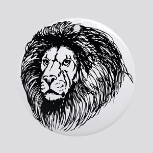 lion - king of the jungle Round Ornament