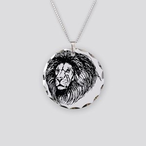 lion - king of the jungle Necklace Circle Charm