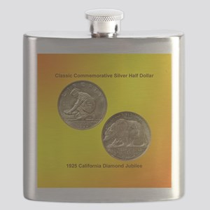 California Diamond Jubilee Half Dollar Coin  Flask