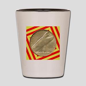 Bridgeport CT Centennial Half Dollar Co Shot Glass