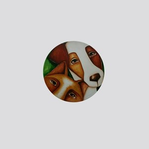Jack Russell Terrier and Fox Mini Button