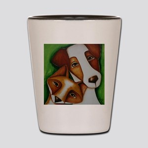 Jack Russell Terrier and Fox Shot Glass