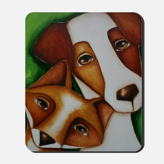 Jack Russell Terrier and Fox Mousepad