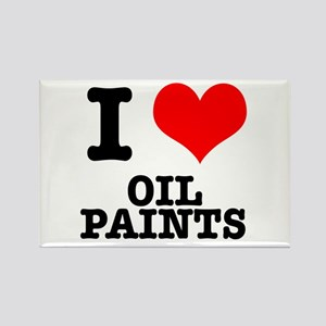 I Heart (Love) Oil Paints Rectangle Magnet
