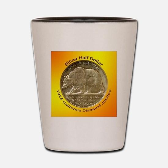 California Diamond Jubilee Half Dollar  Shot Glass