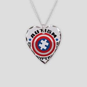 Autism Shield Necklace Heart Charm