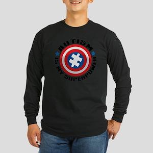 Autism Shield Long Sleeve Dark T-Shirt